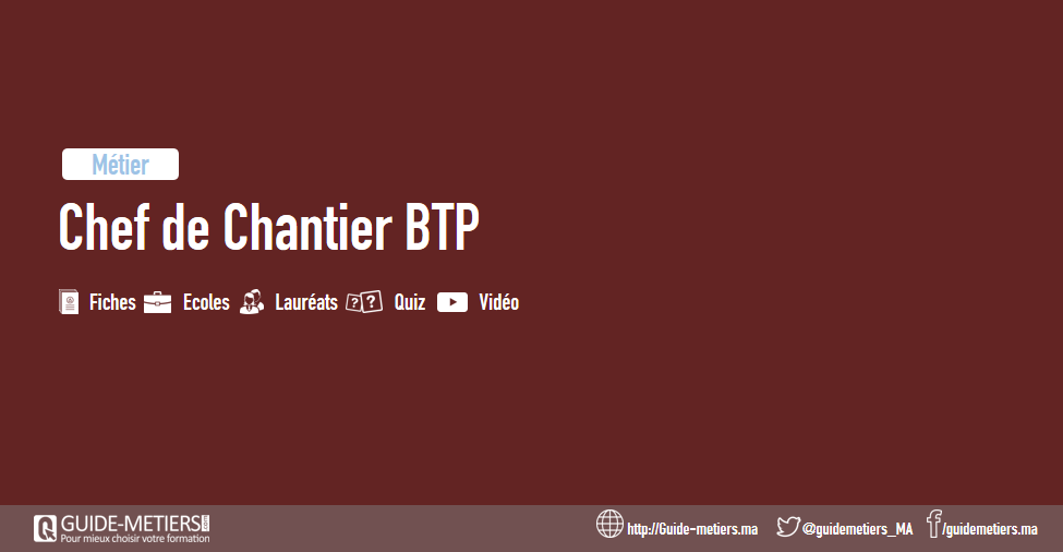 chef de chantier btp  m u00e9tier  formation  salaire
