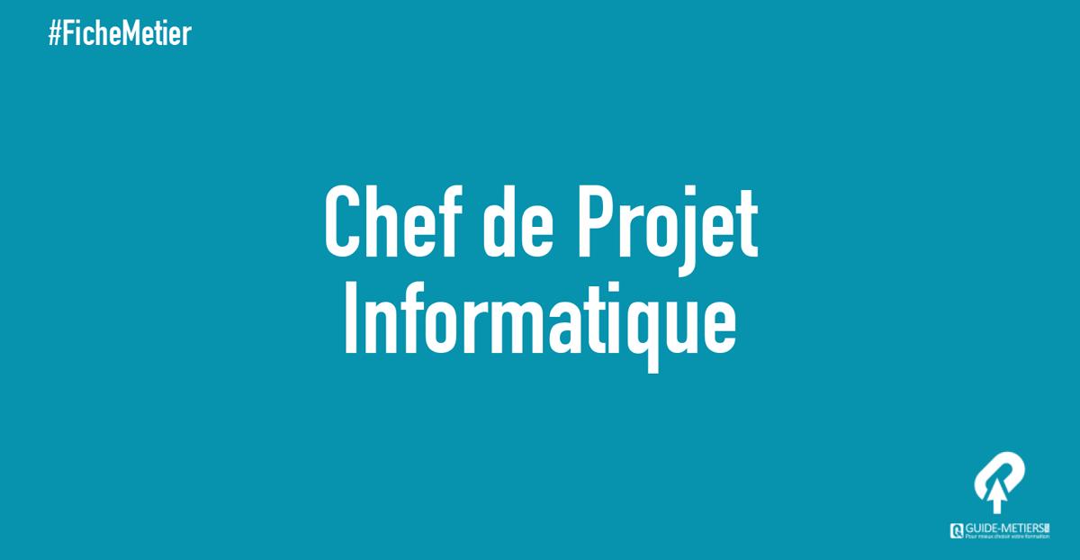 Chef De Projet Informatique Metier Formation Salaire