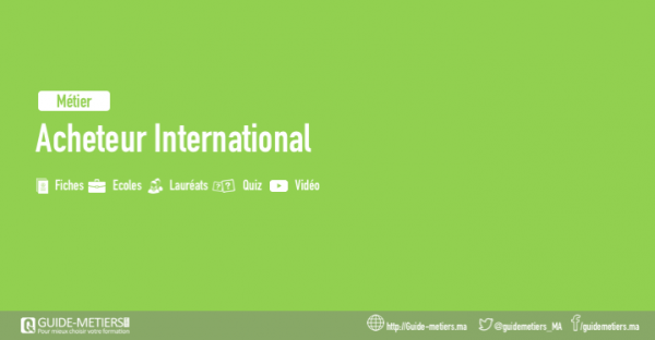 acheteur international m tier formation salaire