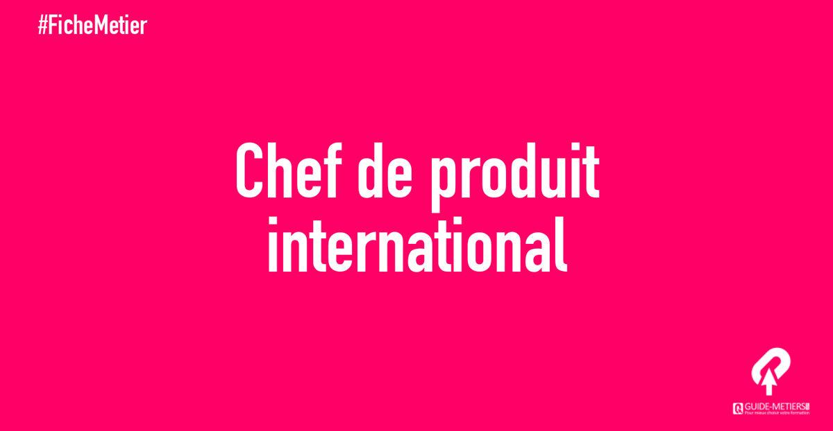 Chef De Produit International Metier Formation Salaires